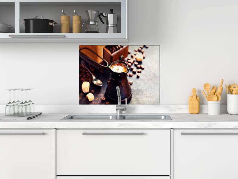 fertige spritzschutz in verschiedene materialien und grossen mit kaffee motiv palboard 600x500